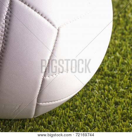 Volley Ball Over Grass