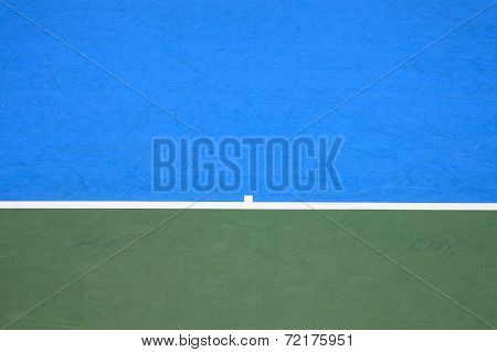 Tennis Court, Surface Background Blue And Green