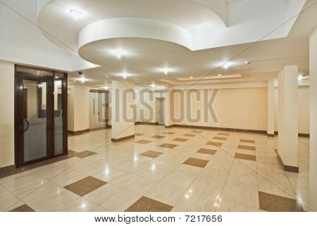 Roomy Hall Of Modern Residential Building