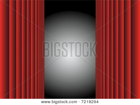 Red Curtain / Vector