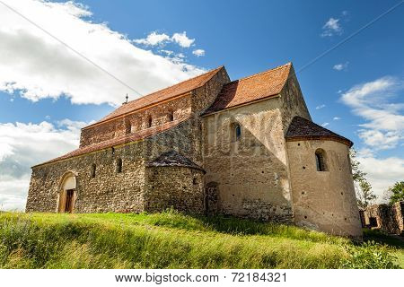 Saxon Church In Cisnadioara, Sibiu, Romania