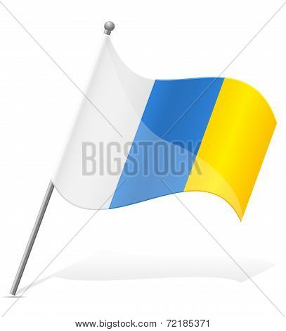 Flag Of Canary Islands Vector Illustration