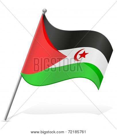 Flag Of Sahrawi Arab Democratic Republic Vector Illustration