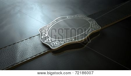 Belt Buckle And Leather
