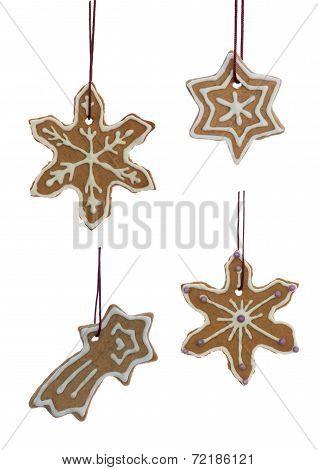 Hanging Christmas Cookies Snowflakes