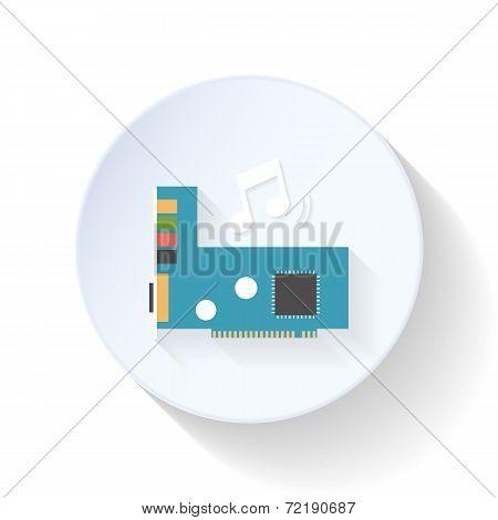 Sound Card Flat Icon