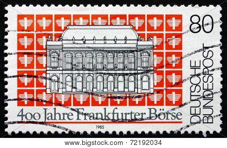Postage Stamp Germany 1985 Frankfurt Stock Exchange