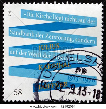 Postage Stamp Germany 2013 Julius Kardinal Dopfner