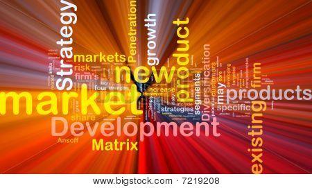 Market Development Background Concept Glowing