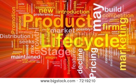 Product Lifecycle Background Concept Glowing