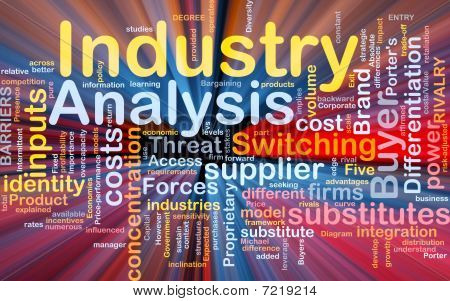 Industry Analysis Background Concept Glowing