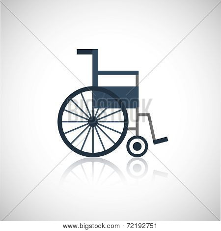 Wheel chair icon flat
