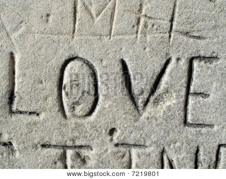 Carved Love Graffiti
