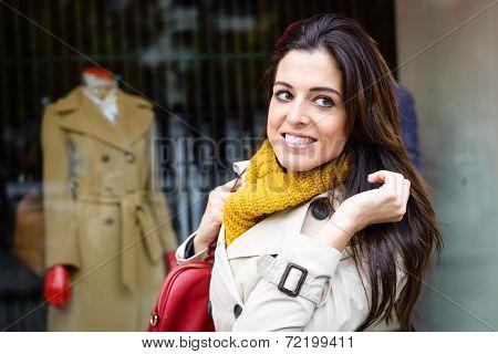Modern City Woman Shopping