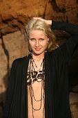stock photo of chokers  - closeup portrait of the beautiful woman with choker - JPG