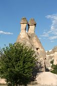foto of goreme  - Rock formations in Goreme National Park - JPG