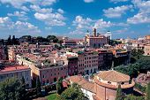 image of emanuele  - Look from Palatine Hill by direction of Monument to Vittorio Emanuele II in Rome Italy - JPG