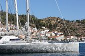 pic of piraeus  - Poros is a small Greek island - JPG