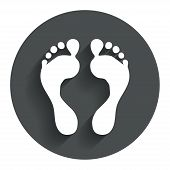 image of flat-foot  - Human footprint sign icon - JPG