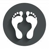 pic of flat-foot  - Human footprint sign icon - JPG