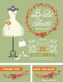 image of mannequin  - Bridal shower invitation set - JPG
