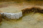 foto of mammoth  - beautiful mineral deposits in mammoth hot springs yellowstone national park - JPG