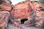 picture of petra jordan  - Mule in Nabataeans capital city  - JPG