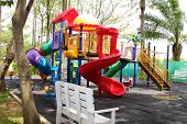 stock photo of playground school  - a colorful playground in school  - JPG