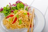 picture of glass noodles  - Chinese noodles with chicken chilli and fresh salad  - JPG