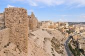 stock photo of crusader  - Al Karak/Kerak Crusader Castle Fortress in Jordan Middle East.