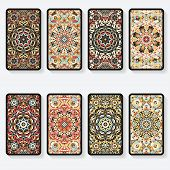 pic of kaleidoscope  - business cards collection with kaleidoscope pattern  - JPG