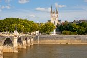 pic of anjou  - Cityscape of Angers at a summer day - JPG