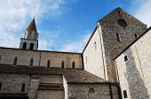 picture of rebuilt  - The cathedral in Aquileia Cathedral origionally built in 1031 and then rebuilt about 1379 in gothic style - JPG