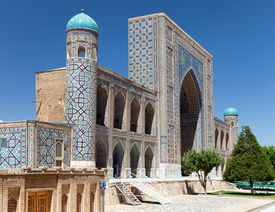 picture of samarqand  - View of Tilla - JPG