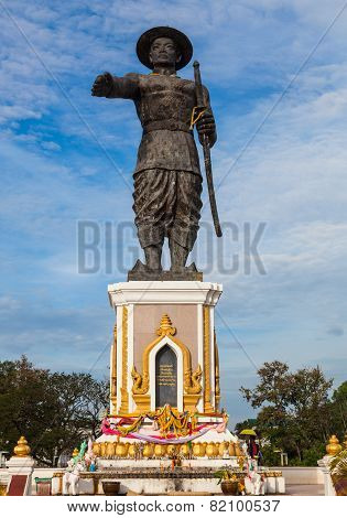 Chao Anouvong Statue in Vientiane Laos