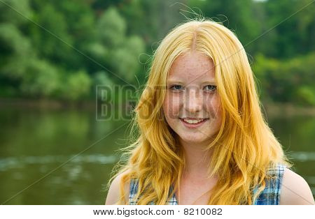 Red-haired Teenager Girl
