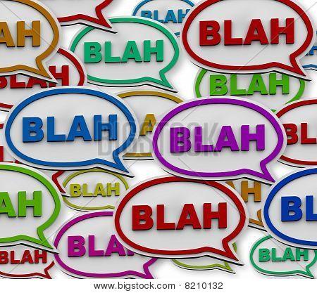 Blah - Speech Bubble Background