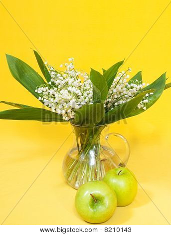 Lily Of The Valley With Green Apples