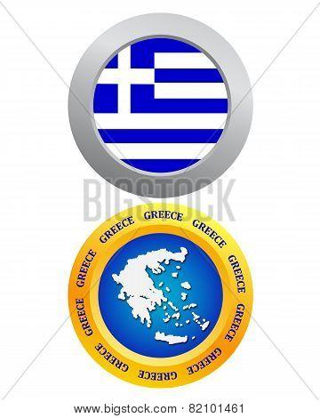 Button As A Symbol Of Greece