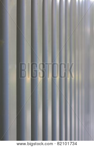 Surface of trapezoidal metal sheet