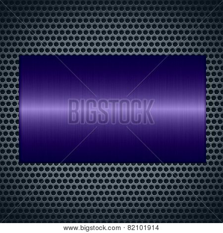 Purple metallic texture with holes metal plate background