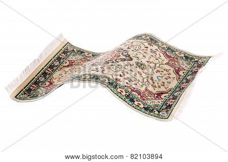 Flying Magic Carpet Isolated