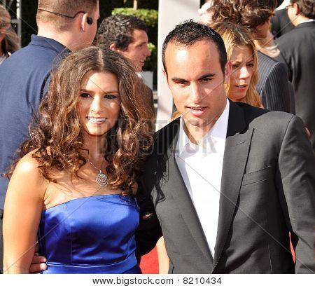Danica Patrick and Landon Donovan