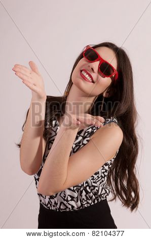 Woman With Hand Sign