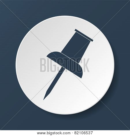 Vector Push Pin Icon