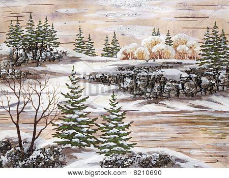 der Sibirischen Winter See
