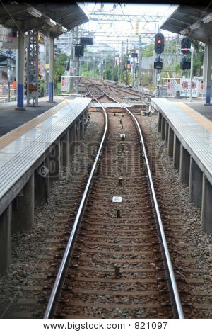 track of train