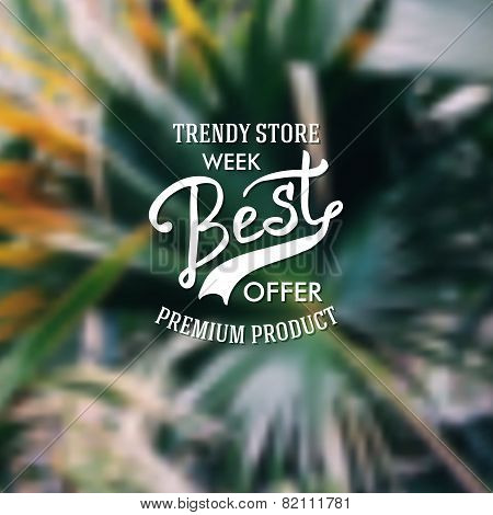 Trendy Store advertising poster