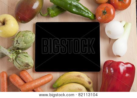 Tablet Fruits And Vegetables