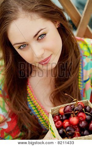 Woman With Berries